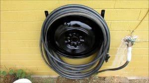 Tire Rim DIY Garden Hose Reel