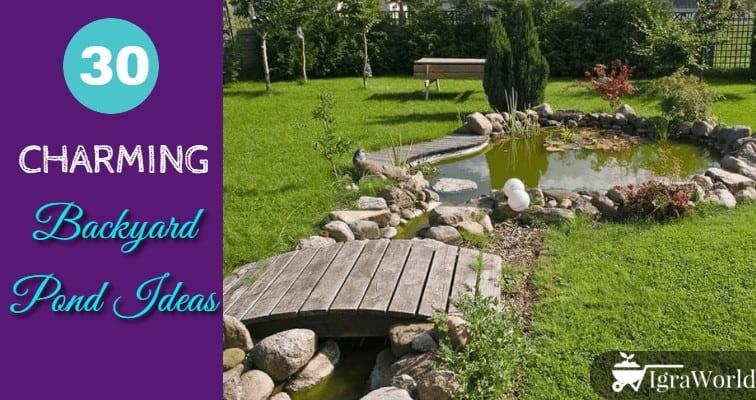 30 Charming Backyard Pond Ideas Igraworld