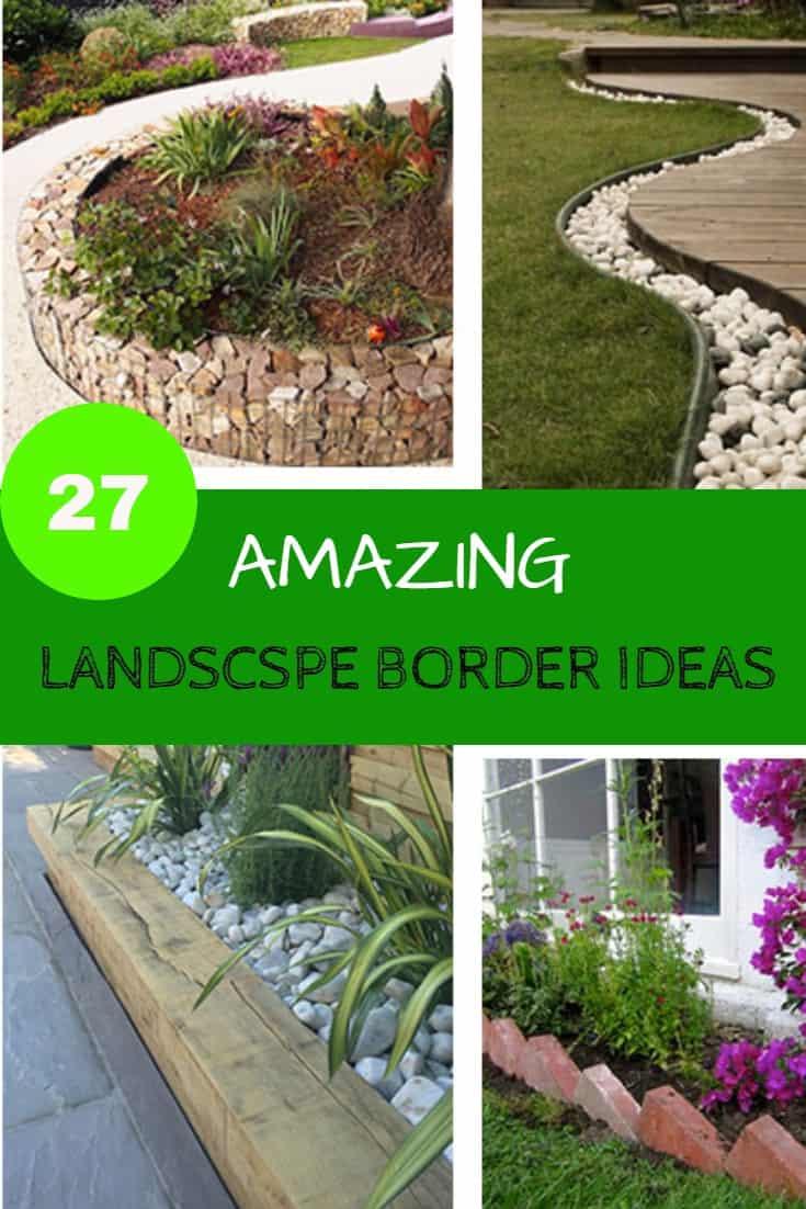 Image of: 27 Amazing Landscape Border Ideas You Ll Love